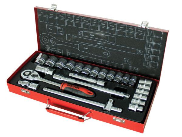 "Гедоре 1/2"" метална кутия CR-V. 24 части BOLTER"