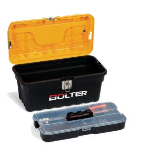Куфар за инструменти с метални закопчалки и вътрешен органайзер