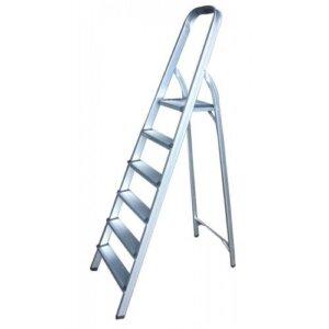 Стълба алуминиева домакинска 5+1