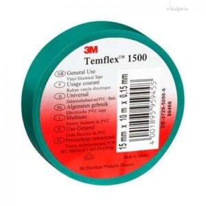 Изолирбанд зелен Temflex 10×15