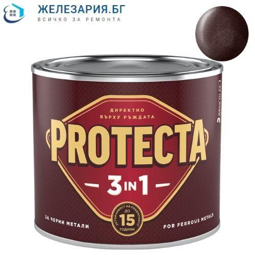 Боя за метал Протекта 3 в 1 - тъмнокафяв