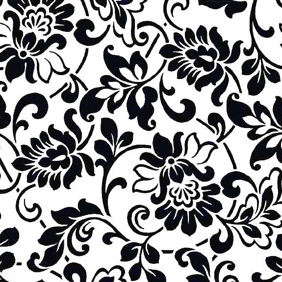 Мебелно фолио Цветя черно-бели