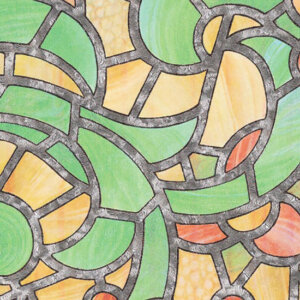 Витражно фолио жълто-зелено