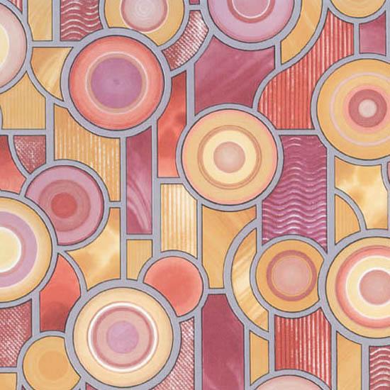 Витражно фолио цветни кръгове 67.5 см