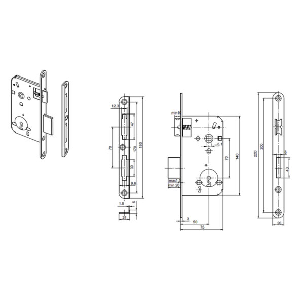 Брава 70 мм обикновен ключ