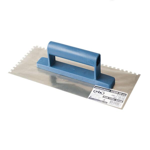 Права маламашка INOX 28 см с противохлъзгаща дръжка