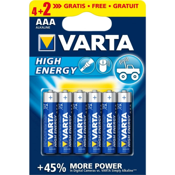 Батерия VARTA HIGH ENERGY 4+2 АА ПРОМО
