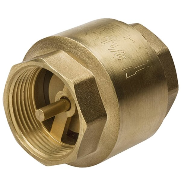Възвратен пружинен клапан с месингов диск