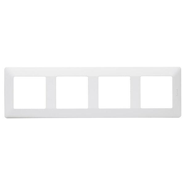 Рамка четворна Легранд бяла