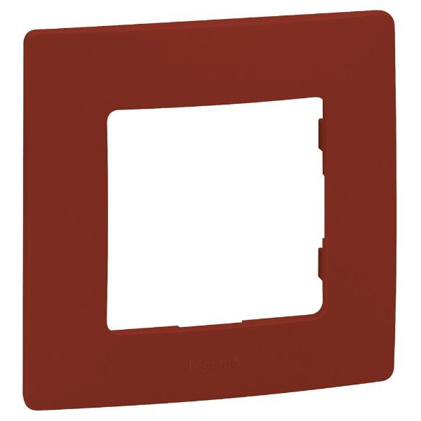 Рамка единична Легранд червена