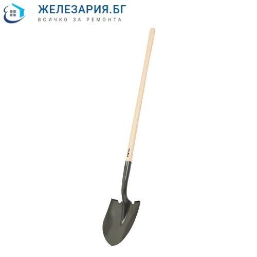 Лопата обла с дълга дръжка