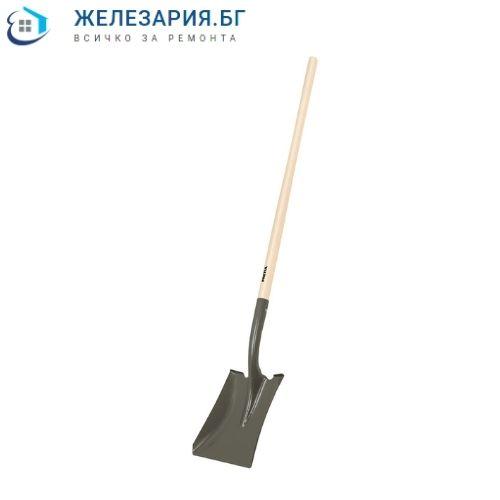 Лопата правоъгълна с дървена дръжка
