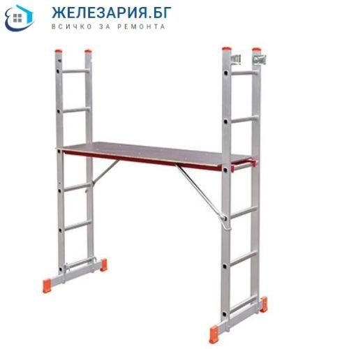 Алуминиево скеле - стълба комбинирана двураменна